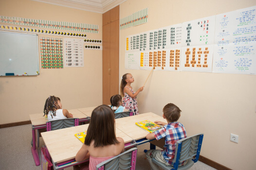 Занятия уроками в частном детском саду в Ростове-на-Дону Капитошка