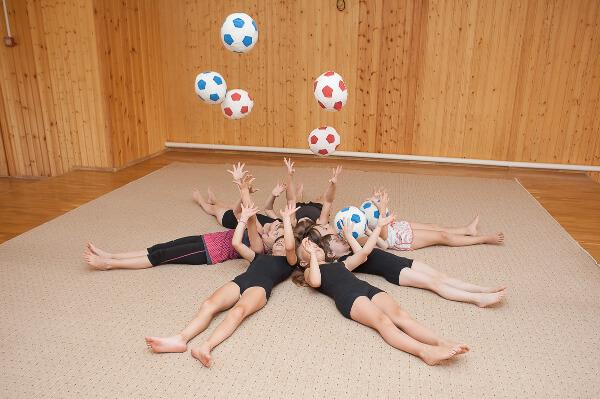 Занятия спортом в частном детском саду в Ростове-на-Дону Капитошка