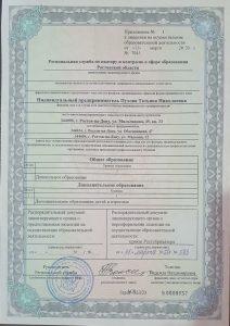 Лицензия - приложение